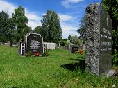 Old Graveyard (cemetary) In Norway poster