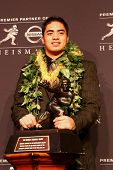 NEW YORK-DEC 8: Notre Dame linebacker Manti Te'o attends the 2012 Heisman finalists press conference