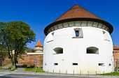 picture of sibiu  - view on thick tower in sibiu Transylvania Romania - JPG