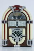 stock photo of jukebox  - jukebox on white - JPG