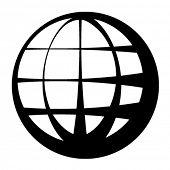 símbolo de globo negro de vetor
