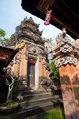 stock photo of saraswati  - This image shows the Pura Saraswati temple in Ubud - JPG