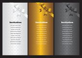 Luxury Vertical Invitation Cards