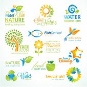 picture of water animal  - Set of vector icon for nature - JPG
