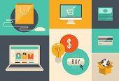 foto of electronic commerce  - Flat design vector illustration icons of e - JPG