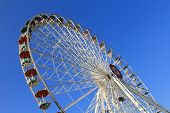 VIENNA, AUSTRIA - AUGUST 10 : Flower Wheel (Blumenrad), the ferris wheel at Wiener Prater Amusement