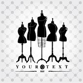 stock photo of dress mannequin  - black and white mannequins - JPG
