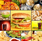 picture of butter-lettuce  - Collage of fast food - JPG