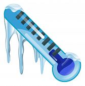 foto of freeze  - Weather icon clipart freezing cold thermometer illustration - JPG