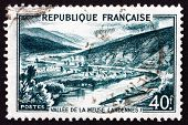 Postage Stamp France 1949 View Of Meuse Valley, Ardennes