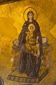 Apse Mosaic Of The Theotokos