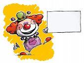 Clown Holding Business Card