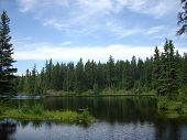 Northern skies over the lake