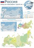 Russia maps with markers (Russian text version)