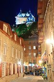 QUEBEC CITY, CANADA - SEP 10: Street view at night on September 10, 2012 in Quebec City, Canada. As
