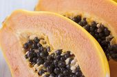 pic of pawpaw  - Close up photo of edible fruits  - JPG