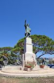 Monument For Christopher Columbus (1914) In Rapallo, Italy