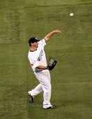 Travis Snider Throwing Baseball