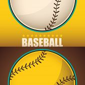 Baseball background. Vector illustration.