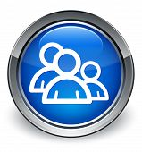 People Icon Glossy Blue Button