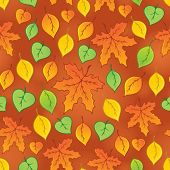 Leafy seamless background 3 - eps10 vector illustration.