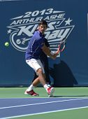 Seven times Grand Slam champion Novak Djokovic  participates at Arthur Ashe Kids day