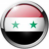 Syria Round Metal Glass Button