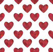 Texture Of Red Hearts In The Crystalline Style