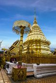 Doi Suthep With Blue Sky In Chiangmai