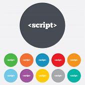 Script sign icon. Javascript code symbol.