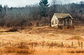 foto of abandoned house  - Old abandoned house - JPG