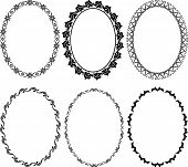 pic of oval  - silhouette of oval frames   - JPG