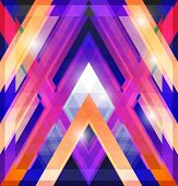 Geometric shining pattern with triangles
