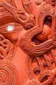 Beautiful maori carving. Rotorua, New Zealand