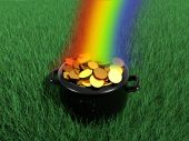 pic of end rainbow  - A Pot of Gold at the End of The Rainbow - JPG