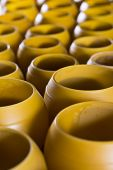 Beeswax candleholders