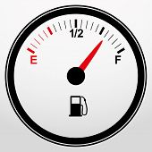 stock photo of fuel efficiency  - Car fuel gauge icon - JPG