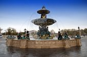 stock photo of mona lisa  - Concorde Square in Paris with Fountain and Obelisk - JPG