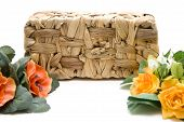 Phloem basket with flower arrangement