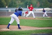 stock photo of little-league  - Runner on third - JPG