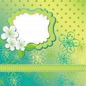 Spring Flowers Background And Polka Dots