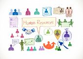 Human Resources icons Human Management idea
