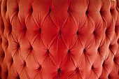 Red Sofa Upholstery Velvet Fabric