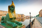 Egyptian Sphinx And The Neva Embankment In Petersburg