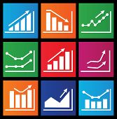 Icons With Charts For Design