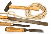 Old Tools With A Rope