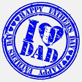 Grunge Happy father s day rubber stamp, vector illustration