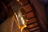 Horizontal View From Half Of Reclining Buddha In Wat Pho