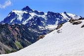 Hiking Snowfields Artist Point Glaciers Mount Shuksan Washington