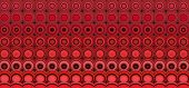 3D Abstract Tiled Mosaic Background In Red Pink